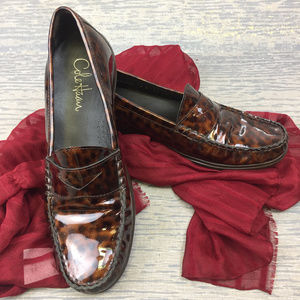 Cole Haan Animal Print Penny Loafers